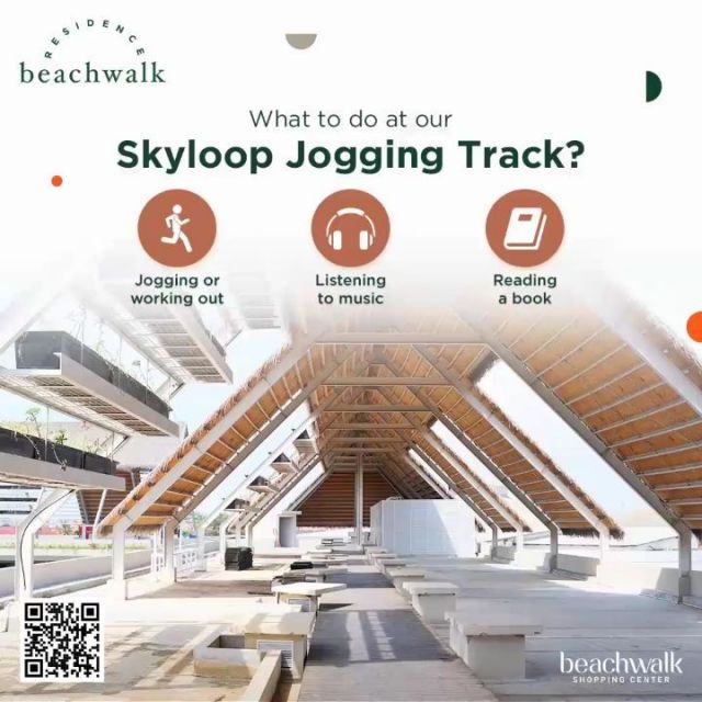 Do you know what we have at the top of our Residence? A skyloop jogging track!  It's one of the facilities that will support your healthy lifestyle. If you wonder what activities you can do at our Skyloop Jogging Track, see our suggestions above.  It's time to own your dream home and enjoy life to the fullest. Let's move to beachwalk Residence! Contact us today on +62 811 8481 223.  #DreamHome #JoggingTrack #WorkingOut #beachwalkresidence #StrategicLocation #LivingInBali #BeachwalkBali #ShorelyBeautiful #HomeIsWhereYourHeart #HomeToYou #HomeAwayFromHome #UrbanLiving #BaliLuxuryResidence #BeautifulLegacy #ResidenceInBali #HomeInBali #WhenInBali #Kuta #LiveInKuta #ParadiseIndonesia #TheParadiseGroup #INPP